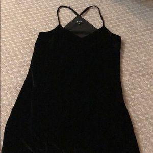 Madewell Black velvet dress